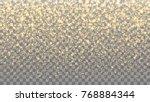 gold sparkles on the... | Shutterstock .eps vector #768884344