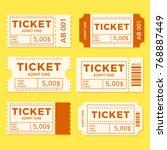 ticket set icon vector... | Shutterstock .eps vector #768887449