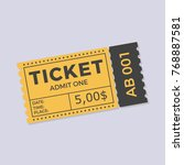 ticket icon vector illustration ... | Shutterstock .eps vector #768887581