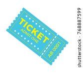 ticket icon vector illustration ... | Shutterstock .eps vector #768887599