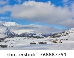 Small photo of Alp Flix in winter. Alp Flix is Moor to about 2000m altitude and a beautiful nature reserve.
