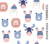 Funny Kids Seamless Pattern...