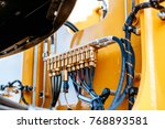 pipes and tubes of the... | Shutterstock . vector #768893581