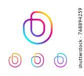 abstract letter o line monogram ... | Shutterstock .eps vector #768894259