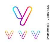 abstract letter v line monogram ... | Shutterstock .eps vector #768894331