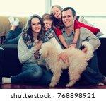 vigorous parents and children... | Shutterstock . vector #768898921