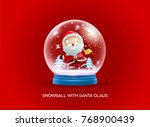 snow globe ball with santa... | Shutterstock .eps vector #768900439