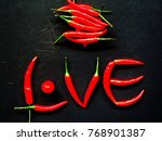 pile of red pepper chili and... | Shutterstock . vector #768901387