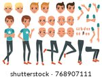 young man character constructor ... | Shutterstock .eps vector #768907111