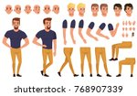 handsome man creation set with... | Shutterstock .eps vector #768907339