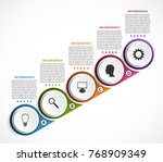 abstract options infographics... | Shutterstock .eps vector #768909349
