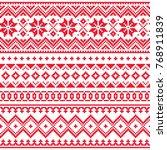 lapland vector seamless winter... | Shutterstock .eps vector #768911839