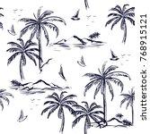 beautiful seamless island... | Shutterstock .eps vector #768915121