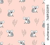seamless pattern with cute... | Shutterstock .eps vector #768920395
