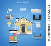 smart house and internet of... | Shutterstock . vector #768922771