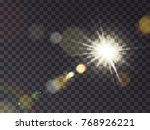 bright luminous sun with light... | Shutterstock .eps vector #768926221