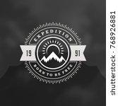 mountains logo emblem vector... | Shutterstock .eps vector #768926881