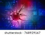 3d rendering virus bacteria... | Shutterstock . vector #768929167