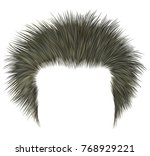 trendy shaggy man hairs blond... | Shutterstock .eps vector #768929221