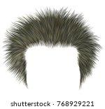 trendy shaggy man hairs blond... | Shutterstock .eps vector #768929221