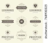 luxury logos templates set ... | Shutterstock .eps vector #768930325