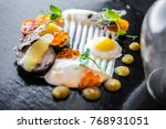 elegant food modern cuisine | Shutterstock . vector #768931051