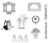 ballet icon set with ballet... | Shutterstock .eps vector #768932971