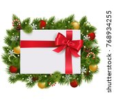 vector christmas fir branches... | Shutterstock .eps vector #768934255