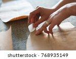 atelier design studio on... | Shutterstock . vector #768935149