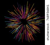 colorful fireworks radiating... | Shutterstock .eps vector #768936841