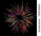 colorful fireworks radiating... | Shutterstock .eps vector #768936841
