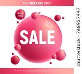 red and purple sale desing with ... | Shutterstock .eps vector #768937447