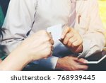 business sales situation in the ... | Shutterstock . vector #768939445
