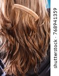 haircare concept. straight... | Shutterstock . vector #768941359