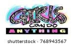 hipster funky t shirt  girls... | Shutterstock .eps vector #768943567