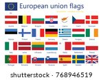 european union flags | Shutterstock . vector #768946519