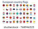 european country flags | Shutterstock . vector #768946525