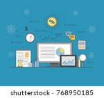 business and finance. digital... | Shutterstock .eps vector #768950185