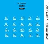 vector business icons  outline... | Shutterstock .eps vector #768953164