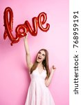 love is the most important   | Shutterstock . vector #768959191