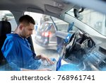 car service  repair ... | Shutterstock . vector #768961741