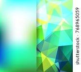 abstract polygonal vector... | Shutterstock .eps vector #768965059