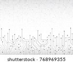 high tech technology background ... | Shutterstock .eps vector #768969355