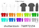 t shirt v neck color collection ...   Shutterstock .eps vector #768972154