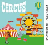 circus poster. performance of... | Shutterstock .eps vector #768972685