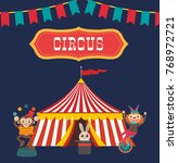 circus poster. performance of... | Shutterstock .eps vector #768972721