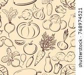 seamless pattern  vegetables...
