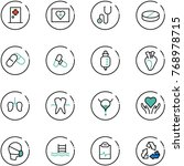 line vector icon set   first... | Shutterstock .eps vector #768978715