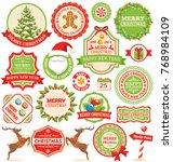 set of christmas winter labels... | Shutterstock .eps vector #768984109