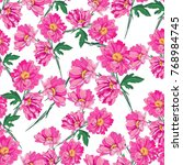 flower illustration pattern... | Shutterstock .eps vector #768984745